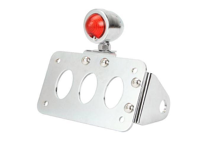 MCU Sidemount + Verlichting Type Bullet Chrome