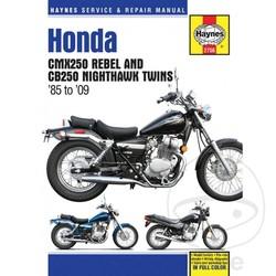 Werkplaatshandboek CMX250 REBEL, CB250 NIGHTHAWK 85-09