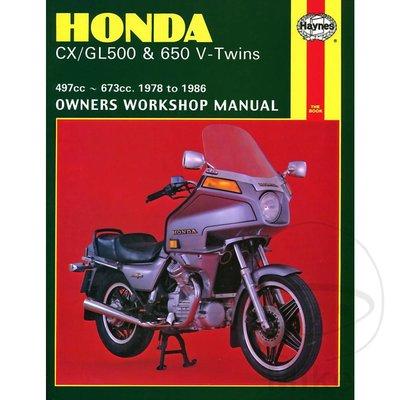 Haynes Repair Manual HONDA CX/GL500 & 650 V-TWINS 1978 - 1986
