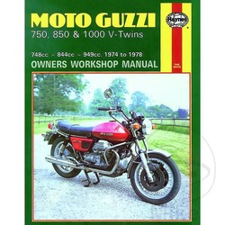 Repair Manual MOTO GUZZI 750, 850 & 1000 V-TWINS 1974 - 1978