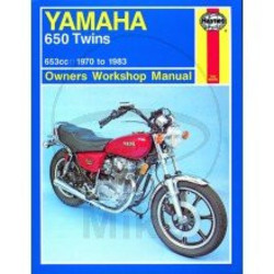 Werkplaatshandboek YAMAHA 650 TWINS 1970 - 1983