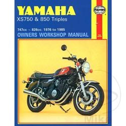 Werkplaatshandboek YAMAHA XS750 & 850 TRIPLES 1976 - 1985