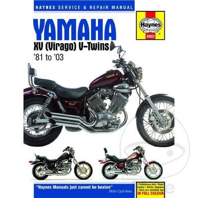 Haynes Repair Manual YAMAHA XV (VIRAGO)V-TWINS (81-03)