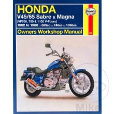 Haynes Manuel de réparation HONDA V45/65 Sabre Magna 1982 - 1988 699cc 748cc 1098cc