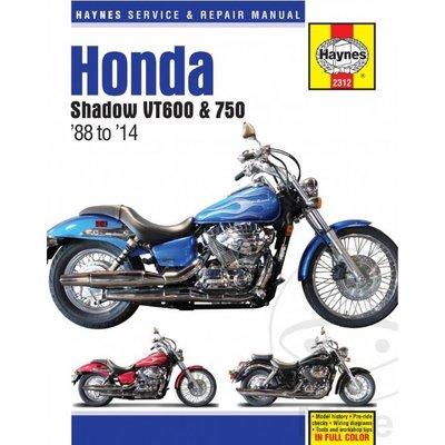 Haynes Repair Manual HONDA Shadow VT600 & 750 88-14