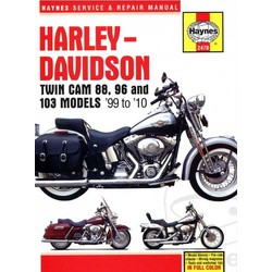Repair Manual HARLEY DAVIDSON Twin Cam 88, 96-103 Models 99-10