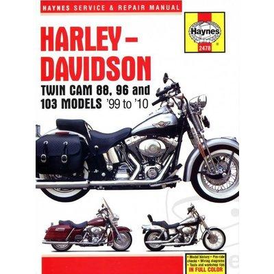 Haynes Manuel de réparation HARLEY DAVIDSON Twin Cam 88, 96-103 Models 99-10