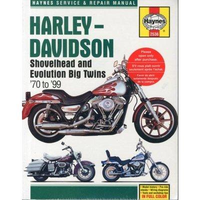Haynes Repair Manual HARLEY DAVIDSON BIG TWINS 1970-99