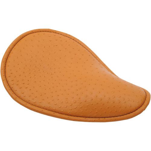 Drag Specialties Klein veer zadel laag-profiel vinyl Struisvogel bruin