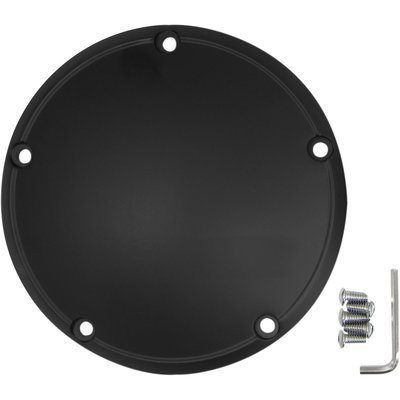 Drag Specialties Derby cover flat black HD twin-cam