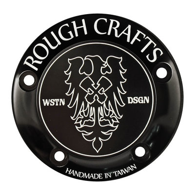 Rough Craft 99-17 Twin Cam Rough Craft black, 5 hole