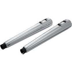 "4"" (2 pc.) Megaphone slip-on mufflers chrome  95> FL"