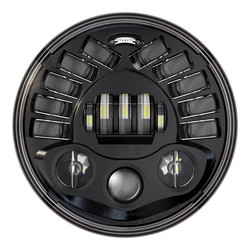"7"" LED Adaptive Headlight model 2 8790 Black"