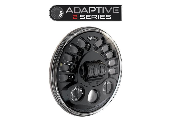 """J.W. Speaker 7 """"LED Adaptive Headlight-model 2 8790 Zwart"""