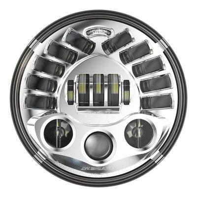 """J.W. Speaker Phare adaptatif 7"""" à LED, modèle 2 8790 chromé"""