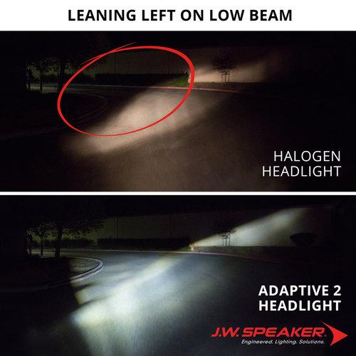 "J.W. Speaker 7"" LED Adaptive Headlight model 2 8790 Chrome"