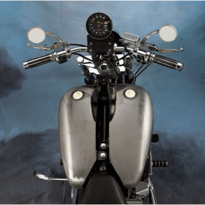 """Drag Specialties 2"""" Extended Two-Piece Flat-Side Gas Tank"""
