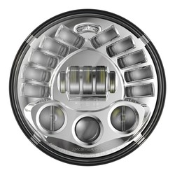 "7"" runde Scheinwerfer mit Sockel Model 8791 Chrom"