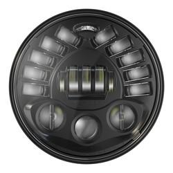 """Phares ronds de 7 """"avec support, modèle 8791 2 noir"""