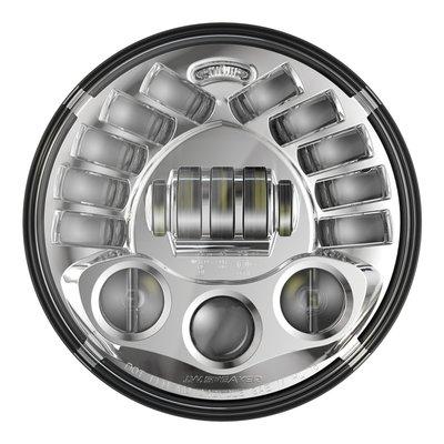 """J.W. Speaker 7"""" Sokkelbevestiging LED-koplamp model 8791 chroom"""