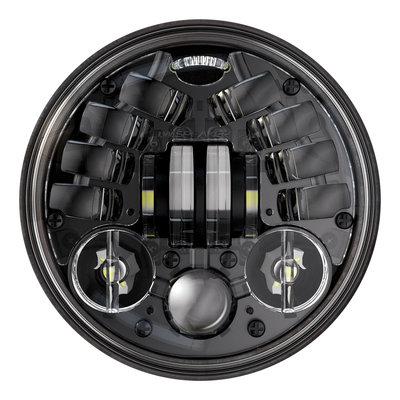 """J.W. Speaker Phare à LED adaptatif noir de 5,75"""" avec support, modèle 8690 2"""
