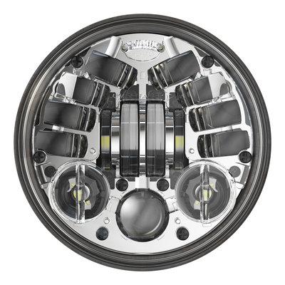 """J.W. Speaker Phare à LED adaptatif chromé de 5,75"""" avec support, modèle 8690 2"""