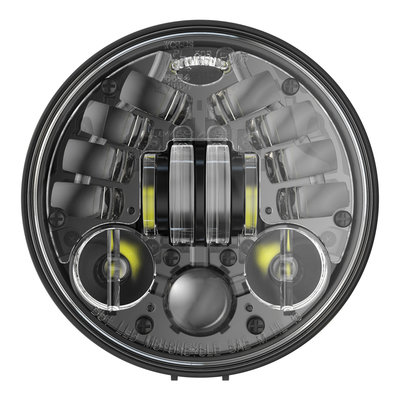 "J.W. Speaker 5.75"" Round Adaptive Headlights with Pedestal Model 8691 2 black"
