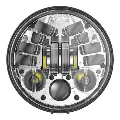 """J.W. Speaker Phare à LED rond chromé de 5,75"""" avec support, modèle 8691"""