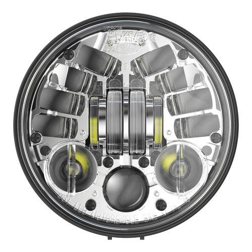 """J.W. Speaker 5.75"""" Bottom mount LED koplamp model 8691 chroom"""
