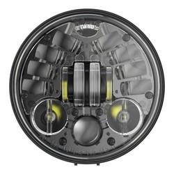 """Phare à LED rond noir de 5,75"""" avec support, modèle 8691"""