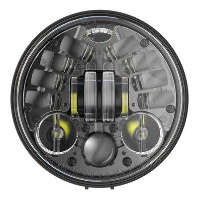 """J.W. Speaker Phare à LED rond noir de 5,75"""" avec support, modèle 8691"""