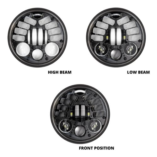 "J.W. Speaker 5.75"" Ronde koplamp Model 8690 zwart"
