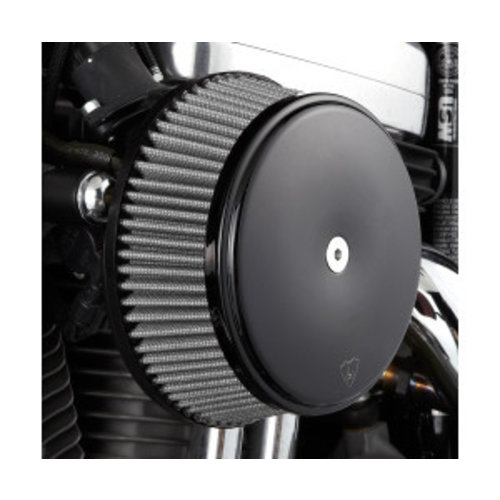 Arlen Ness Big Sucker Stage I Air Filter Kit Smooth zwart EVO/BIGTWIN 93-99