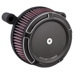Big Sucker Stage I Air filter kit 'beveled' zwart EVO/BIGTWIN 93-99