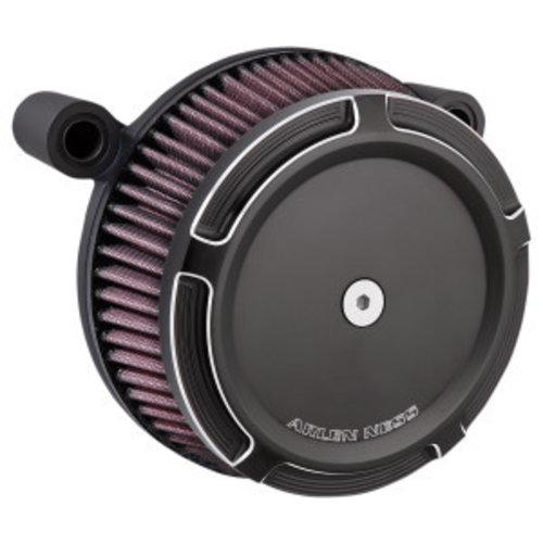 Arlen Ness Big Sucker Stage I Air filter kit 'beveled' zwart EVO/BIGTWIN 93-99