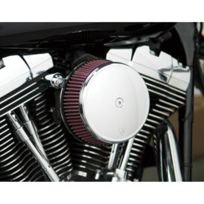 Arlen Ness Big Sucker Stage I Air Filter Kit met Standaard Filter chroom EVO/BIGTWIN 93-99