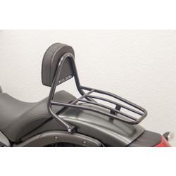 Driver Sissy Bar mit Rückenlehne und Gepäckträger, schwarz, Kawasaki Vulcan S (EN650), 15-
