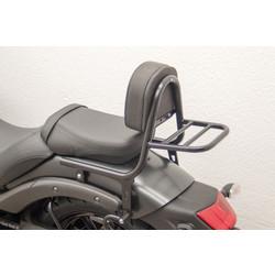 Sissy Bar mit Rückenlehne und Gepäckträger, schwarz beschichteter Stahl, Kawasaki Vulcan S (EN650), 15-
