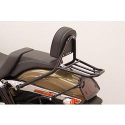 Sissy bar with backrest and luggage rack, HD Dyna Fat Bob FXDF 08-, black