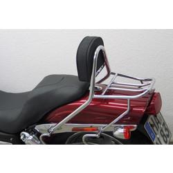 Sissy bar with backrest and luggage rack, HD Dyna Fat Bob FXDF 08-, chrome