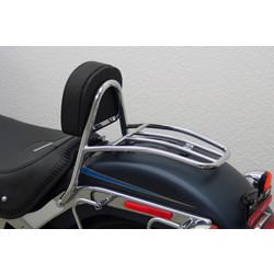 Driver Sissy Bar mit Rückenlehne und Gepäckträger, HD Softail FLSTF Fat Boy Bj.07-11-11
