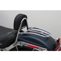 Driver Sissy Bar with backrest and luggage rack, HD Softail FLSTF Fat Boy year 07-11-11