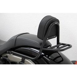 Sissy bar with backrest and luggage rack, black coated steel, Honda VT 750 C Black Spirit 2010-, Spirit 07-09 / 10-10