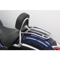 Driver Sissy Bar with backrest and luggage rack, Yamaha XVS 950 A Midnight Star 2009-