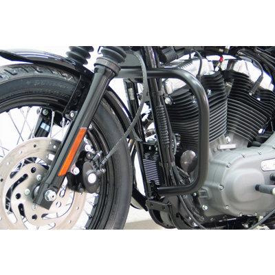 Fehling Zwarte valbeugel H-D Sportster Evo 04-, Custom, Roadster/Low, Nightster/Iron, 48
