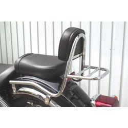 Sissy bar with backrest and luggage rack, Yamaha XVS 125 Drag Star 2000-