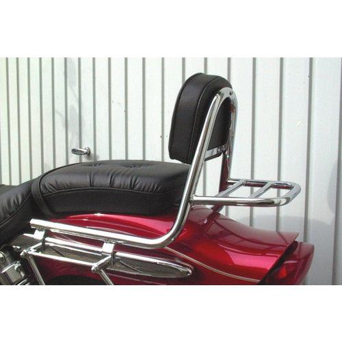 Fehling Sissy bar with backrest and luggage rack, Suzuki GZ 125 Marauder 98-01, GZ 250 Marauder 99-01