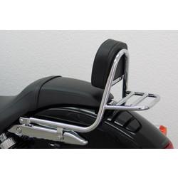 Sissy Bar mit Rückenlehne und Gepäckträger, Honda VT 750 C Black Spirit 2010-, Spirit 07-09 / 10-10
