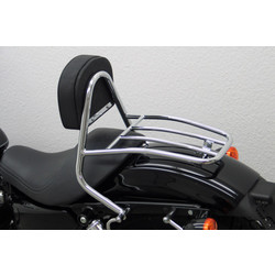 Driver Sissy Bar with backrest and luggage rack, Harley Davidson Sportster Evo 2004- (Custom, Roadster / Low, Nightster / Iron)