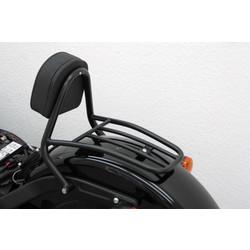 Driver Sissy Bar met rugleuning en bagagerek, zwart, HD Softail Blackline FXS 2011-, Softail Slim FLS 2012-